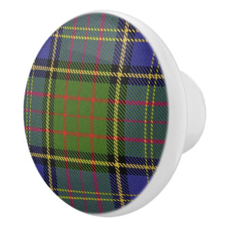 Scottish Grandeur Clan MacMillan Hunting Tartan Ceramic Knob
