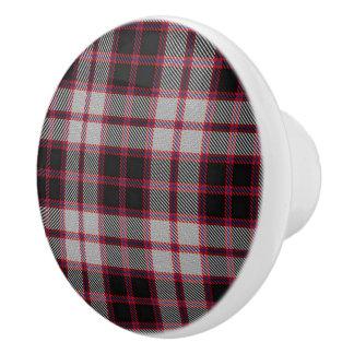 Scottish Grandeur Clan MacPherson Tartan Plaid Ceramic Knob