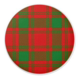 Scottish Grandeur Clan MacQuarrie Tartan Plaid Ceramic Knob
