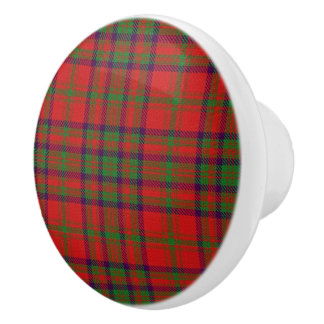 Scottish Grandeur Clan Matheson Tartan Plaid Ceramic Knob