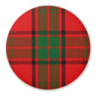 Scottish Grandeur Clan Maxwell Tartan Plaid Ceramic Knob