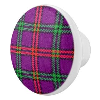 Scottish Grandeur Clan Montgomery Tartan Plaid Ceramic Knob