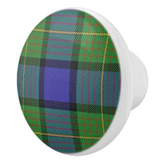 Scottish Grandeur Clan Muir Tartan Plaid Ceramic Knob