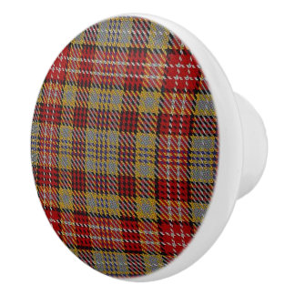 Scottish Grandeur Clan Ogilvie Ogilvy Tartan Plaid Ceramic Knob