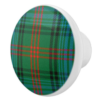 Scottish Grandeur Clan Ross Tartan Plaid Ceramic Knob