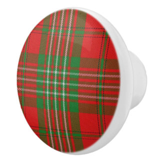 Scottish Grandeur Clan Scott Tartan Plaid Ceramic Knob