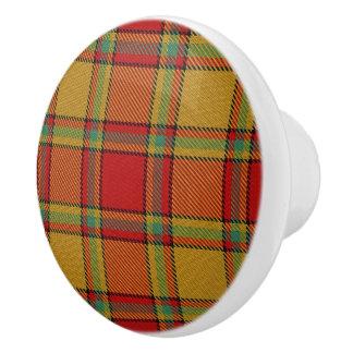 Scottish Grandeur Clan Scrymgeour Tartan Plaid Ceramic Knob
