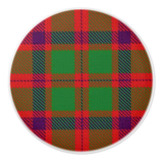Scottish Grandeur Clan Shaw Tartan Plaid Ceramic Knob