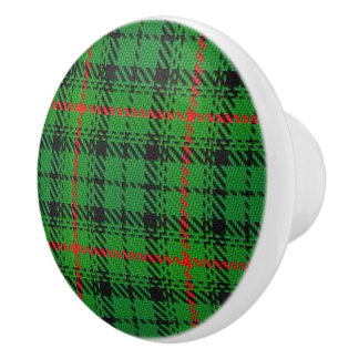 Scottish Grandeur Clan Urquhart Tartan Plaid Ceramic Knob