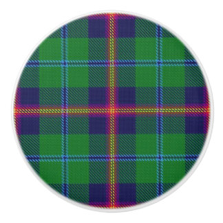 Scottish Grandeur Clan Young Tartan Plaid Ceramic Knob