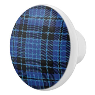 Scottish Grandeur Clergy Tartan Plaid Ceramic Knob