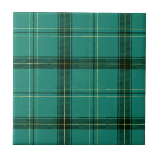 Scottish Green Tartan Tile