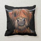 Scottish Hairy Highland Cow 'BRUCE' Cushion Pillow