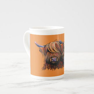Scottish Hairy Highland Cows ' PALS ' Tea Cup