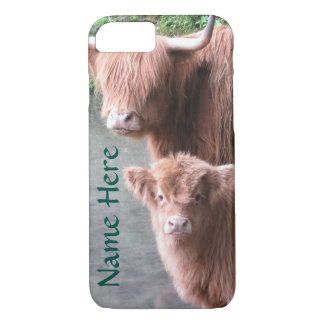 Scottish Highland Cattle, Cow and Calf Case-Mate iPhone Case