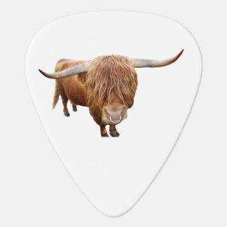 Scottish highland cattle guitar pick