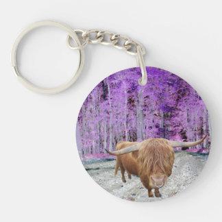 Scottish highland cattle keychain