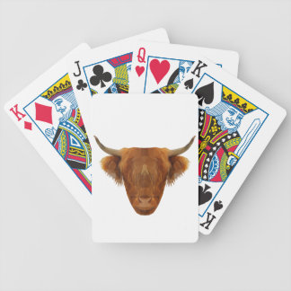 Scottish Highland Cattle Scotland Animal Cow Bicycle Playing Cards