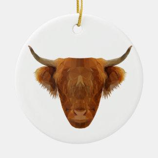 Scottish Highland Cattle Scotland Animal Cow Ceramic Ornament