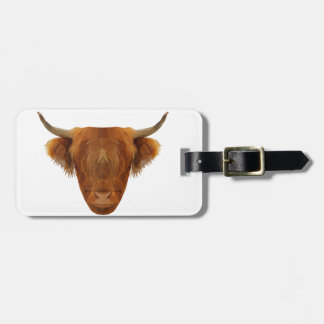Scottish Highland Cattle Scotland Animal Cow Luggage Tag