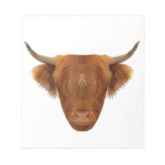 Scottish Highland Cattle Scotland Animal Cow Notepad