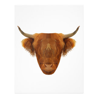 Scottish Highland Cattle Scotland Animal Cow Personalized Letterhead