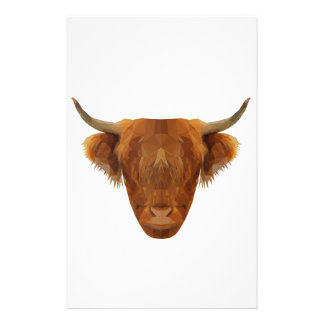 Scottish Highland Cattle Scotland Animal Cow Stationery Paper