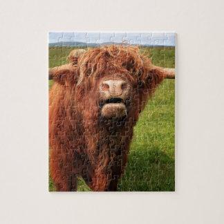 Scottish Highland Cattle - Scotland Jigsaw Puzzle