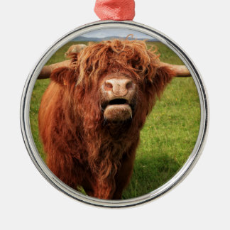 Scottish Highland Cattle - Scotland Metal Ornament