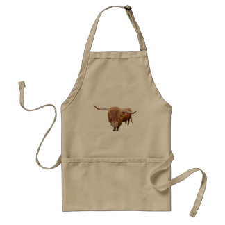 Scottish highland cattle standard apron