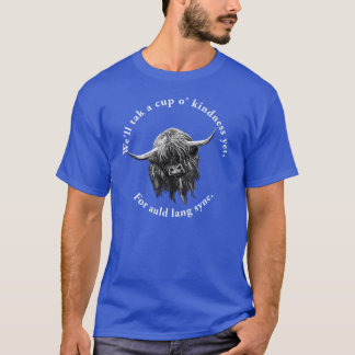 Scottish Highland Cow. Auld Lang Syne. T-Shirt