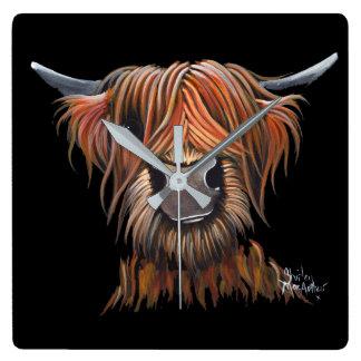 Scottish Highland Cow 'BRUCE' Clock