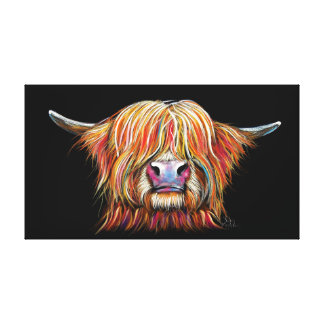 SCoTTiSH HigHLaND CoW ' CHaRMeR ' by SHiRLeY Mac Canvas Print