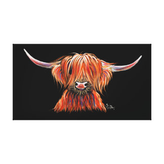 SCoTTiSH HigHLaND CoW ' HaRLeY ' by SHiRLeY Mac Canvas Print