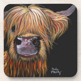 Scottish Highland Cow 'Henry' Coasters Set of 6