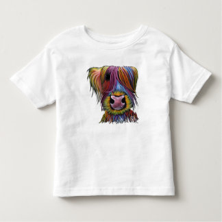 Scottish Highland Cow ' MacKENZIE ' by Shirley Mac Toddler T-shirt