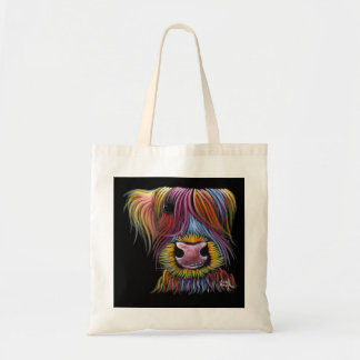 Scottish Highland Cow ' MacKENZIE ' by Shirley Mac Tote Bag