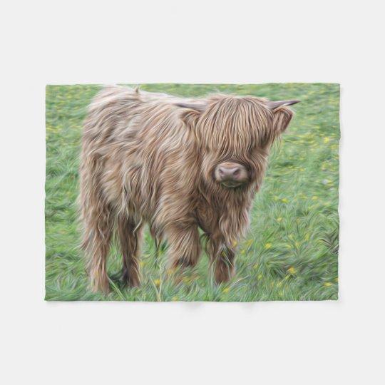 Scottish Highland cow photograph blanket