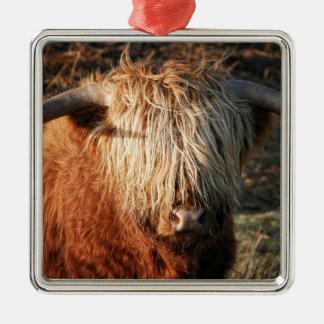 Scottish Highland Cow - Scotland Metal Ornament