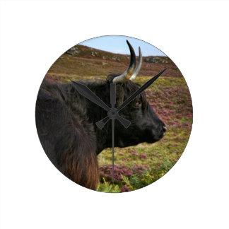 Scottish Highland Cow - Scotland Round Clock