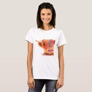 Scottish Highland Cow ' SWEET SATSUMA ' by Shirley T-Shirt