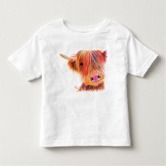 Scottish Highland Cow ' SWEET SATSUMA ' by Shirley Toddler T-shirt