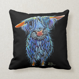 Scottish Highland Cow ' THoMaS ' by Shirley M Throw Pillow