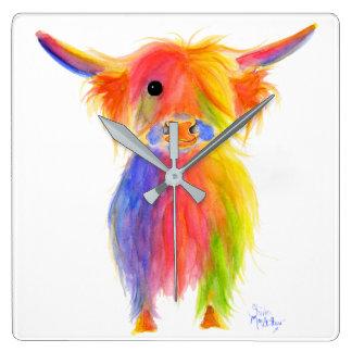 Scottish Highland Cow ' TOTTIE ' Wall Clock