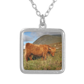 Scottish Highland Cows - Scotland Silver Plated Necklace