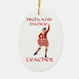 Scottish Highland Dance Teacher Ceramic Oval Ornament