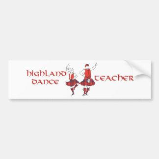 Scottish Highland Dance Teacher - Silhouette Bumper Sticker