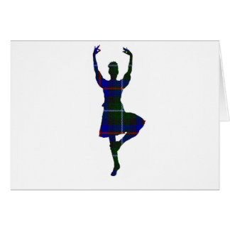 Scottish Highland Dancer Greeting Card