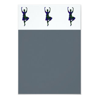 "Scottish Highland Dancers 3.5"" X 5"" Invitation Card"