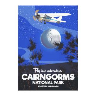 Scottish Highlands Cairngorms flight poster Canvas Print